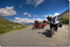Bikes on Foscagno Pass