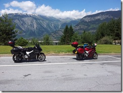 Bikes on Simplon Pass