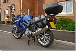 BMW F800ST with Panniers