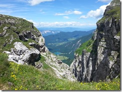 View from Mangart Pass to Austria