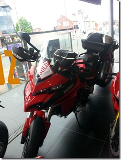 Multistrada with luggage