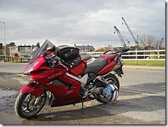 My VFR @Glasson Dock