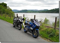 Our bikes at Bala Lake