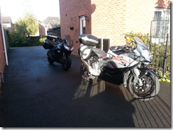 Bikes ready for the off